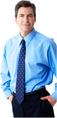 executive guy wearing blue shirt